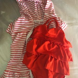 Carters Swimsuit and Cover up